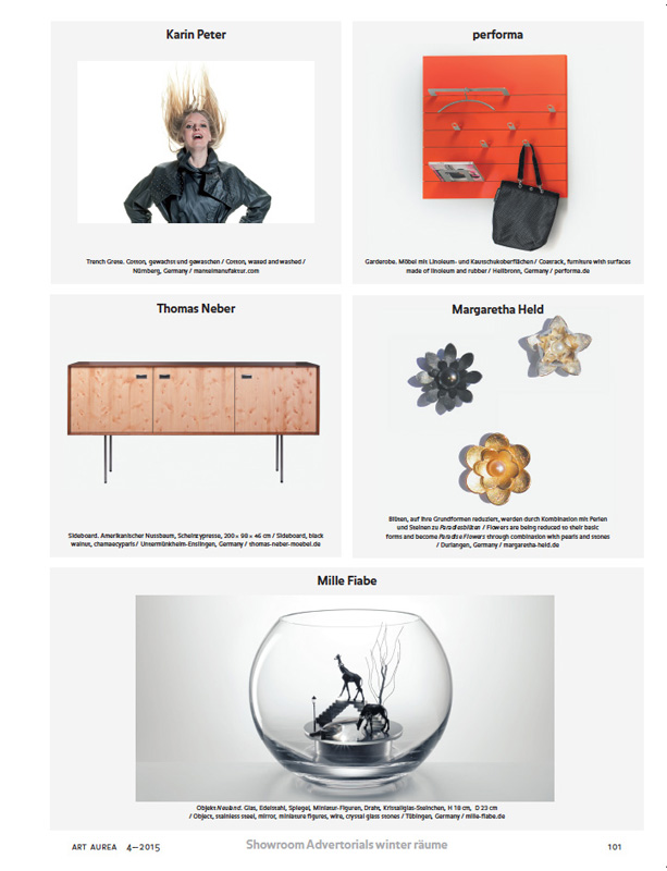 Artikel MILLE FIABE, Katrin Ruoffner, Designmagazin ART AUREA