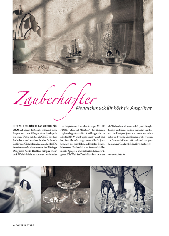 Artikel MILLE FIABE, Katrin Ruoffner, Lifestyle-Magazin COUNTRY STYLE