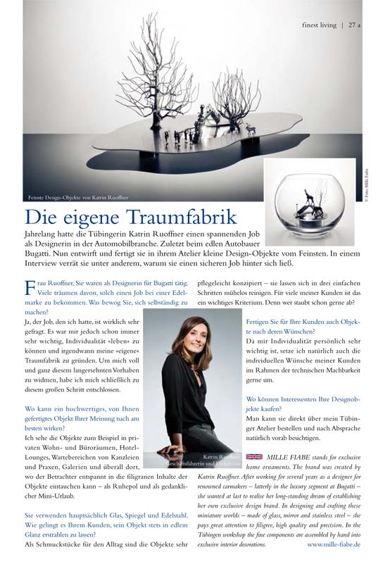 Interview MILLE FIABE, Katrin Ruoffner, Magazin FEINE ADRESSEN RTZ